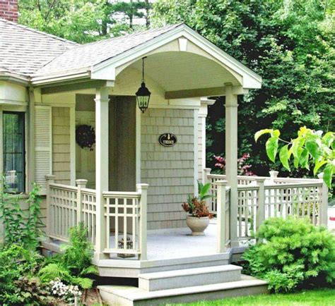 small country house porch design with lantern home front