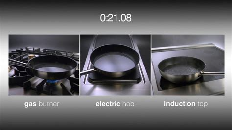 induction cooktop efficiency vs gas which appliance cooks faster induction burner or electric