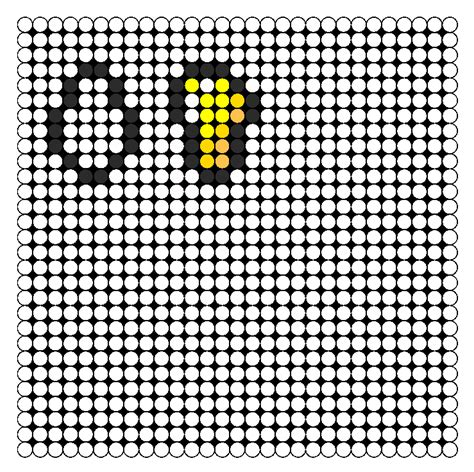 perler bead minecraft patterns minecraft gold nugget and gast tear perler bead pattern