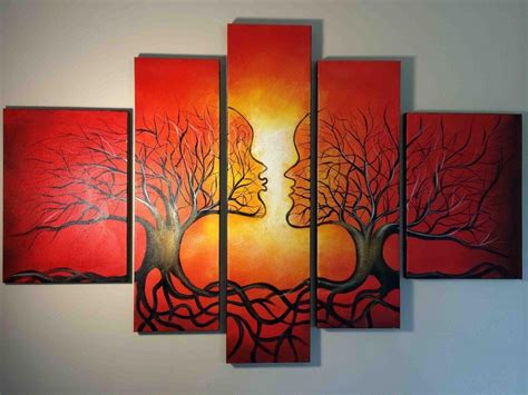 wall painting trees2018 10 best ideas of abstract painting wall