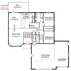 Bi Level Home Plans bi level house plan with a bonus room 2010542 by e designs