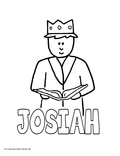 Josiah Coloring Page coloring page with josiah coloring home