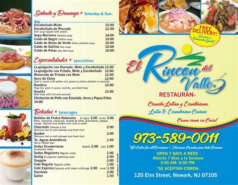 projecte javerm el meu el rincon del valle restaurant menu narcisos printing inc