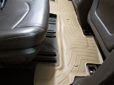 weathertech 2nd row rear auto floor mat weathertech