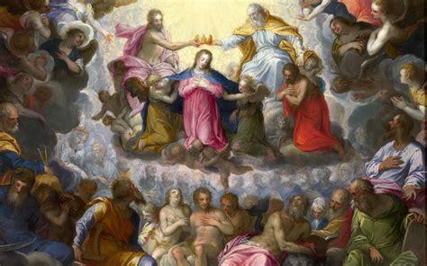 imagenes artisticas religiosas the coronation of the virgin full hd wallpaper and