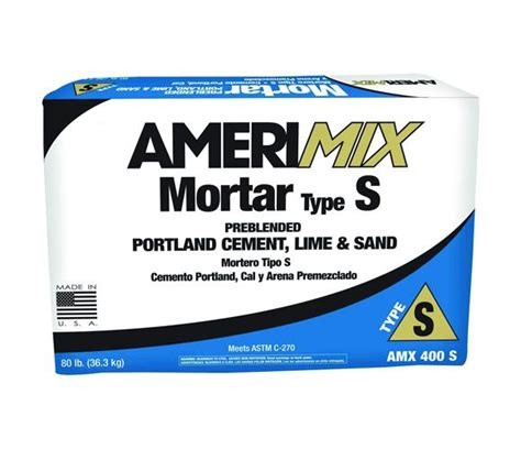 amerimix mortar type s basalite
