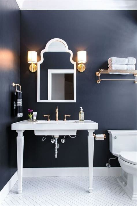 Navy And White Bathroom Ideas Best 25 Navy Bathroom Ideas On Navy Cabinets Copper Bathroom And Apartment Color