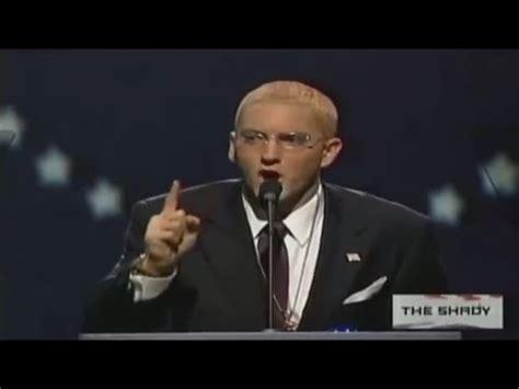 eminem zero eminem running for president does he got your vote