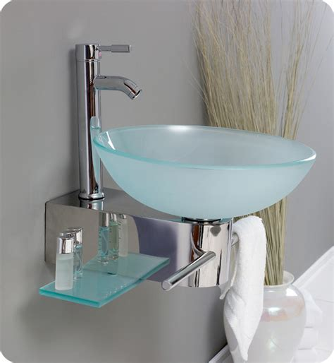 what is the small sink in european bathrooms 17 75 quot cristallino single wall mounted vessel sink vanity