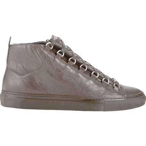 balenciaga arena sneakers balenciaga arena high top sneakers in brown for lyst