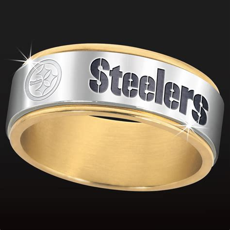 Wedding Bands Pittsburgh by Pittsburgh Steelers Spinner Ring The Danbury Mint