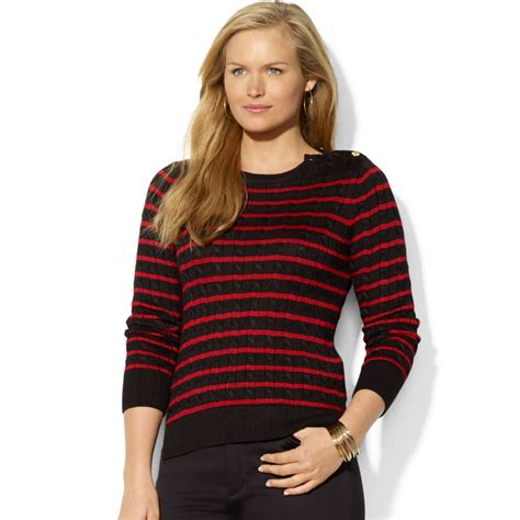 plus size cable knit sweater by ralph plus size cable knit button detail