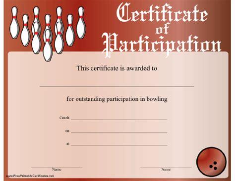 printable bowling gift certificates free printable bowling award certificates pin certificate