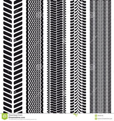 set   tire treads seamless texture stock vector image