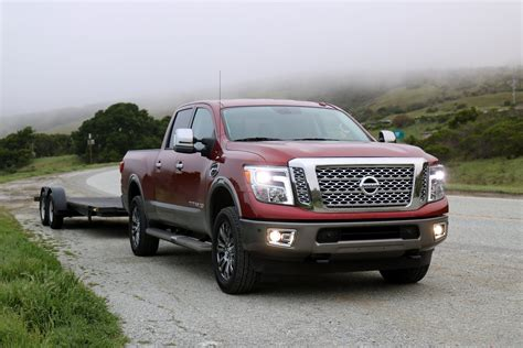 nissan truck 2016 2016 nissan titan xd towing with the 5 8 ton truck