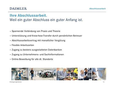 Guter Anfang Anschreiben Bewerbung Einstiegsm 246 Glichkeiten Bei Daimler