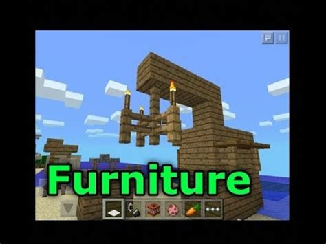 How To Make Furniture In Minecraft Pe by Minecraft Pe How To Make Epic Furniture