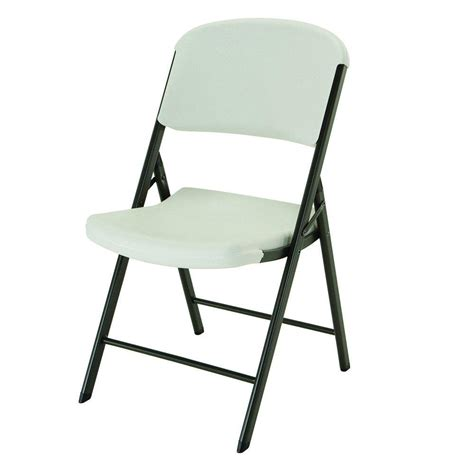 lifetime almond plastic seat outdoor safe plastic folding chair set     home depot