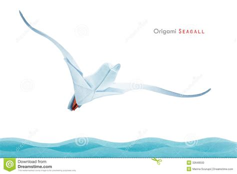 Origami Seagull - origami seagull stock photo image of image animals