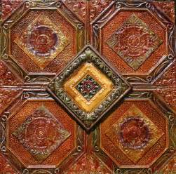 4x4 antique tin ceiling tiles 4 way by kenny the tin hoff
