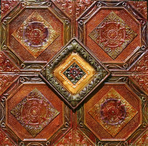 Tin Ceiling Tiles 4x4 Antique Tin Ceiling Tiles 4 Way By Kenny The Tin Hoff