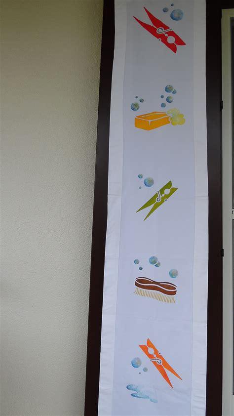 copri scaffale telo copri scaffale per la lavanderia pittura su stoffa