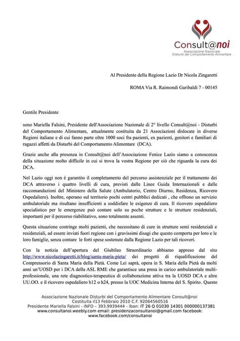 esempi di lettere di presentazione da allegare al curriculum lettera al presidente zingaretti consult noi disturbi