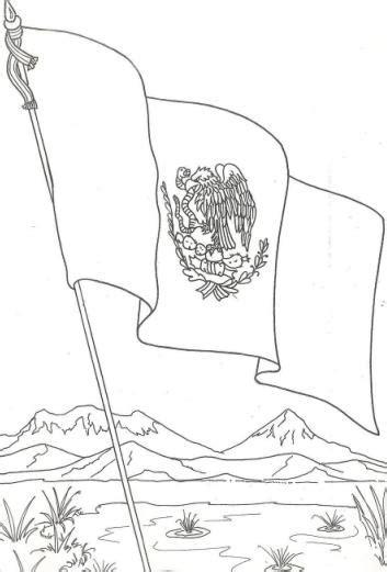 Normal  Trabajos De Navidad Para Ninos De Primaria #3: Bandera-de-Mexico-Dibujo-para-colorear-pintar-Dia-de-la-Bandera-de-mexico.jpg