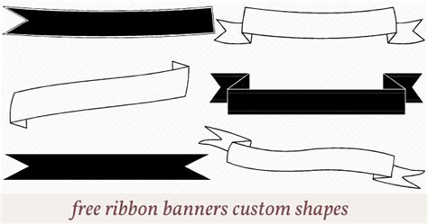 Free Ribbon Banners Custom Shapes For Photoshop Scrapbooking Pinterest Shape Banners And Vinyl Banner Template Photoshop