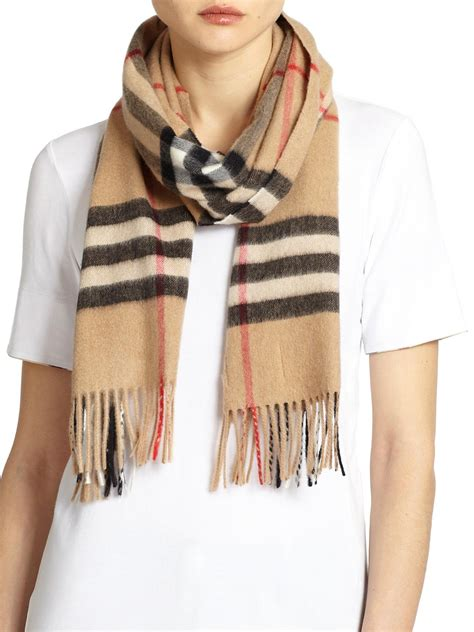 burberry check scarf in lyst