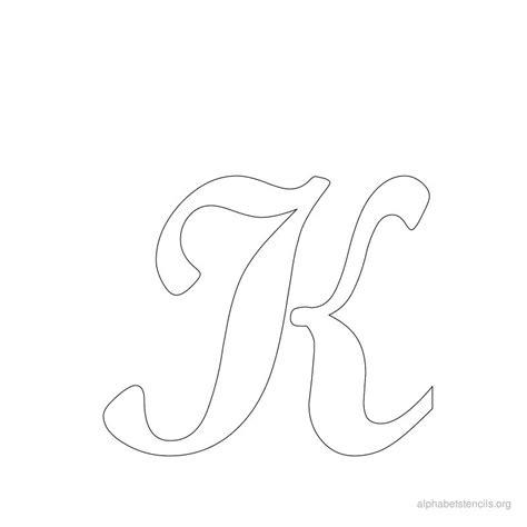 printable drawing stencils print free alphabet stencils cursive k stencils