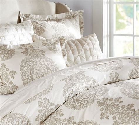 if we dont want to paint lucianna medallion duvet cover sham taupe pottery barn home