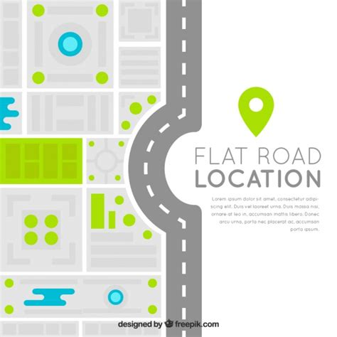 graphic design hill road modern road map in flat design vector free download
