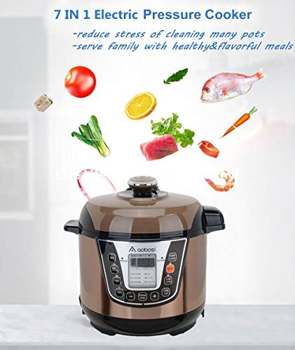the aobosi multi functional electric pressure cooker the best watering and easy recipes books aaobosi aobosi electric pressure cooker 3qt 800w mini size