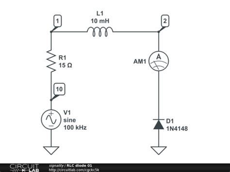 diode circuits basics rlc diode circuit basic electronics new to electronics circuitlab