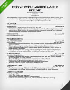 best photos of entry level construction laborer resume