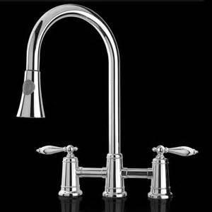 16 quot 3hole pullout chrome bridge faucet lever kitchen sink