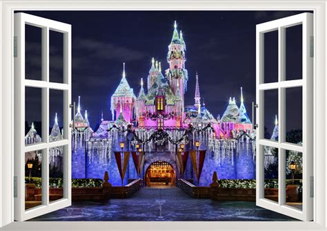 Disney Castle Wall Sticker aliexpress com buy 3d ancient princess castle window