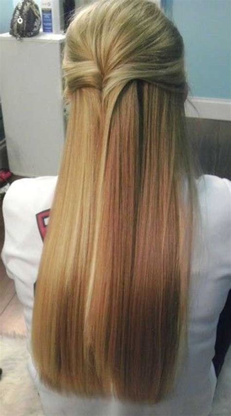 evening hairstyles for long straight hair 25 best ideas about straight hairstyles prom on pinterest