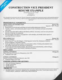 Construction Resume Exles by Construction Resume Writing Tips
