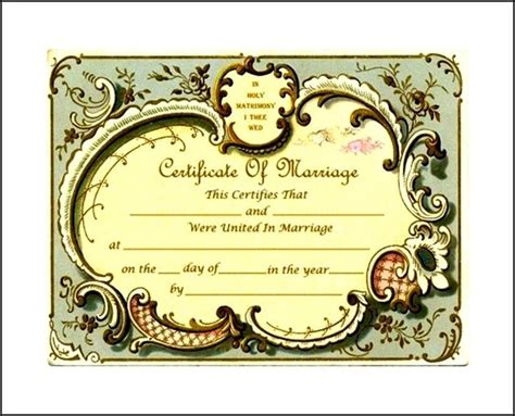 keepsake marriage certificate format sle templates