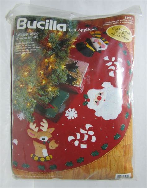 bucilla santa and friends christmas tree skirt felt