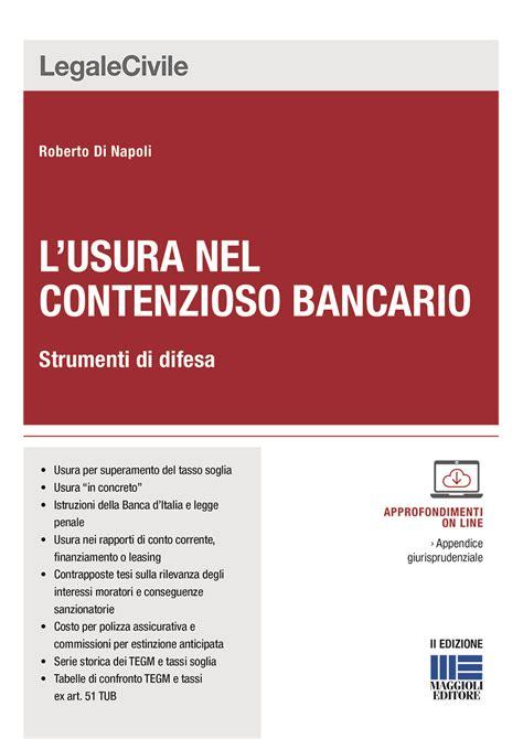 Usura Banca by L Usura Nel Contenzioso Bancario
