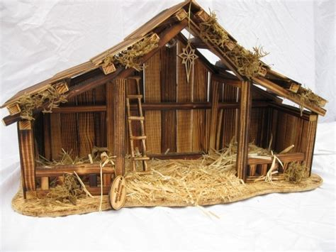 woodtopia nativity stable large willow tree nativity