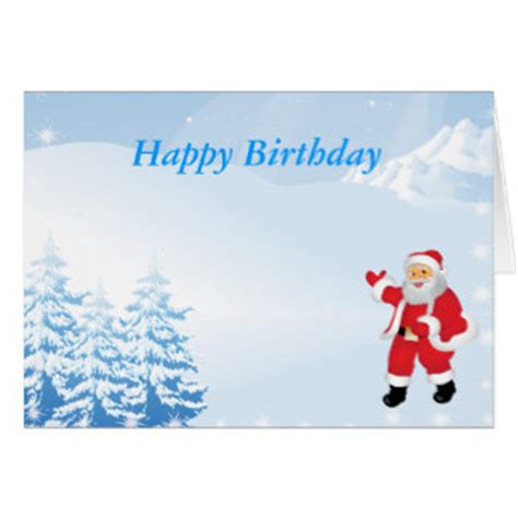 Merry And Happy Birthday Wishes Christmas Birthday Cards Invitations Zazzle Co Uk