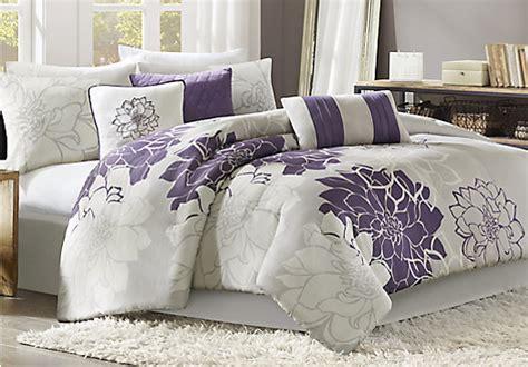queen purple comforter lola gray purple 7 pc queen comforter set queen linens