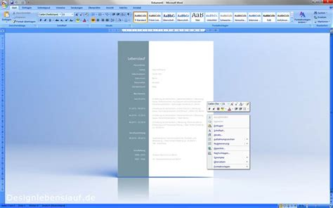 Lebenslauf In Aufsatzform Muster Anschreiben Bewerbung Muster Als Wordvorlage Zum