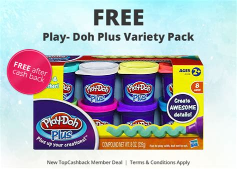 free play doh plus variety pack kid sles freebies