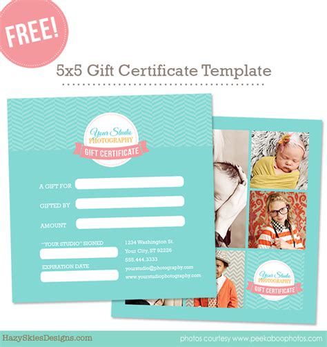 shopify gift card template free gift card template for photographers
