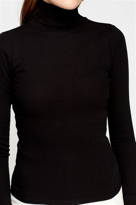 Turtle Neck Ribbed Top ribbed turtle neck top grey or black just 163 5